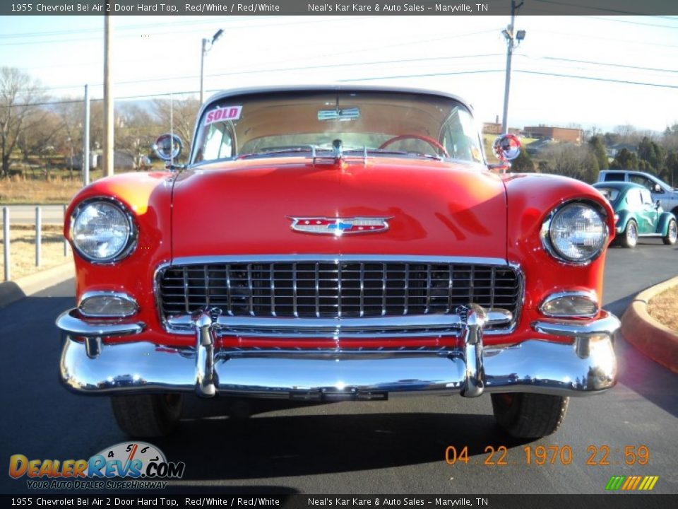 1955 Chevrolet Bel Air 2 Door Hard Top Red/White / Red/White Photo #5