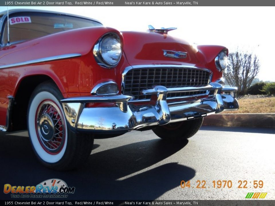 1955 Chevrolet Bel Air 2 Door Hard Top Red/White / Red/White Photo #6