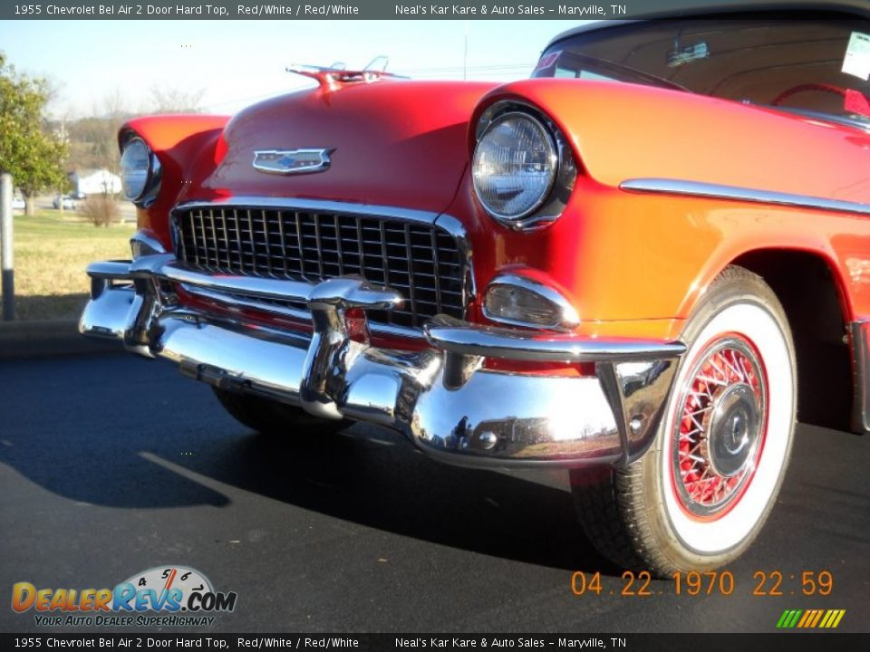 1955 Chevrolet Bel Air 2 Door Hard Top Red/White / Red/White Photo #7