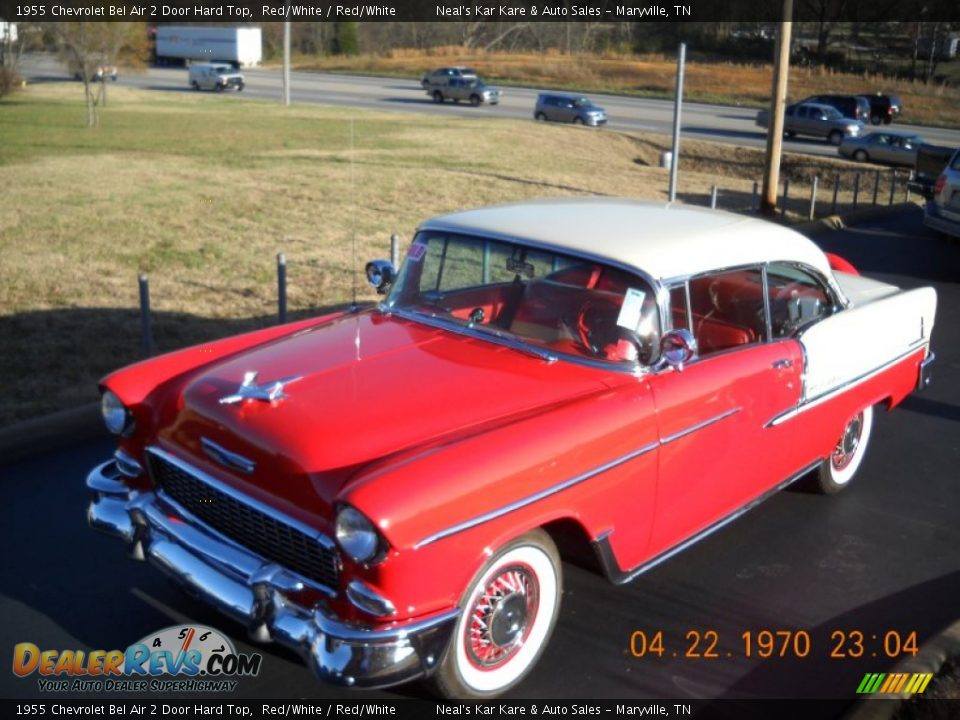 1955 Chevrolet Bel Air 2 Door Hard Top Red/White / Red/White Photo #8