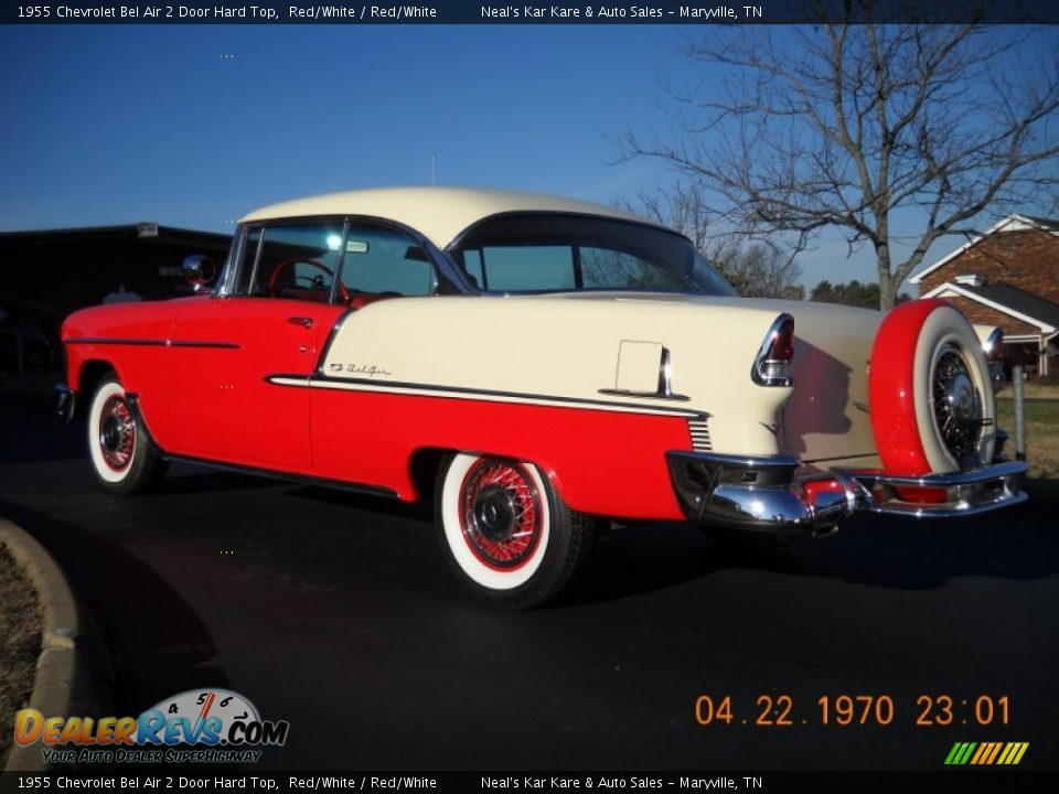 1955 Chevrolet Bel Air 2 Door Hard Top Red/White / Red/White Photo #11