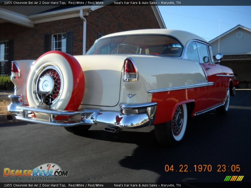 1955 Chevrolet Bel Air 2 Door Hard Top Red/White / Red/White Photo #12