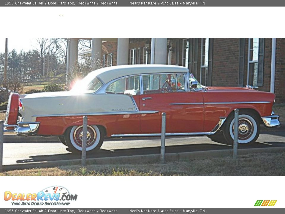 1955 Chevrolet Bel Air 2 Door Hard Top Red/White / Red/White Photo #13