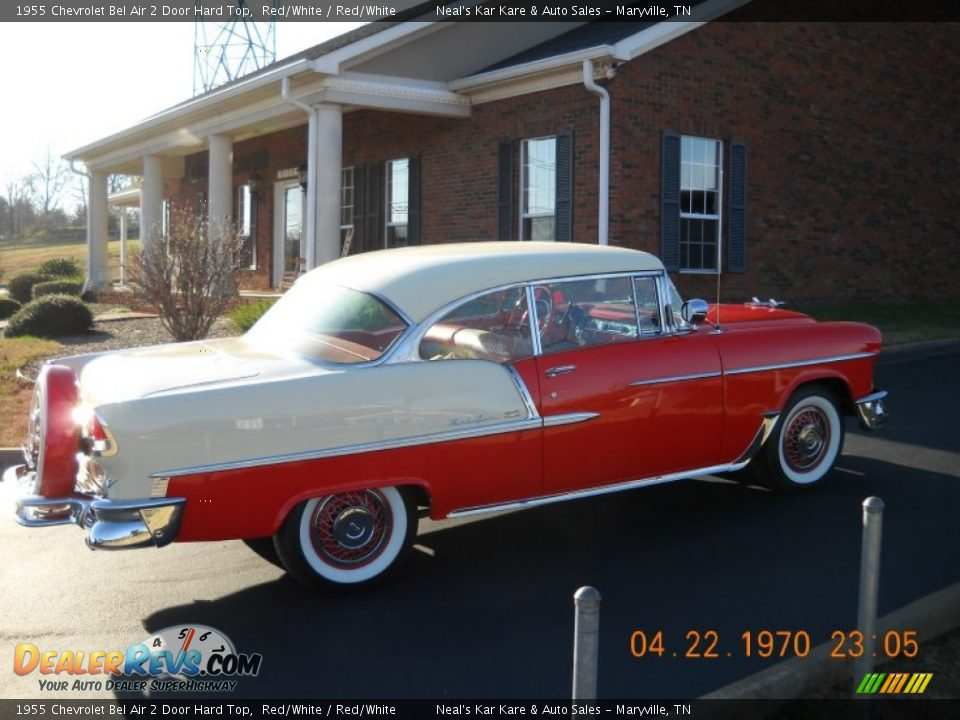 1955 Chevrolet Bel Air 2 Door Hard Top Red/White / Red/White Photo #14