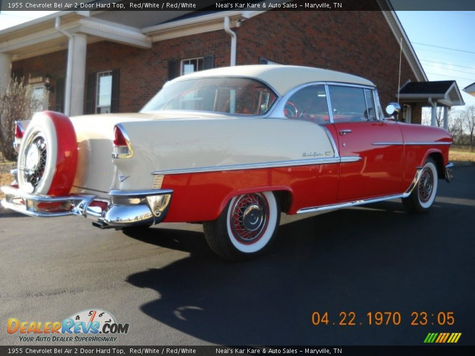 1955 Chevrolet Bel Air 2 Door Hard Top Red/White / Red/White Photo #15