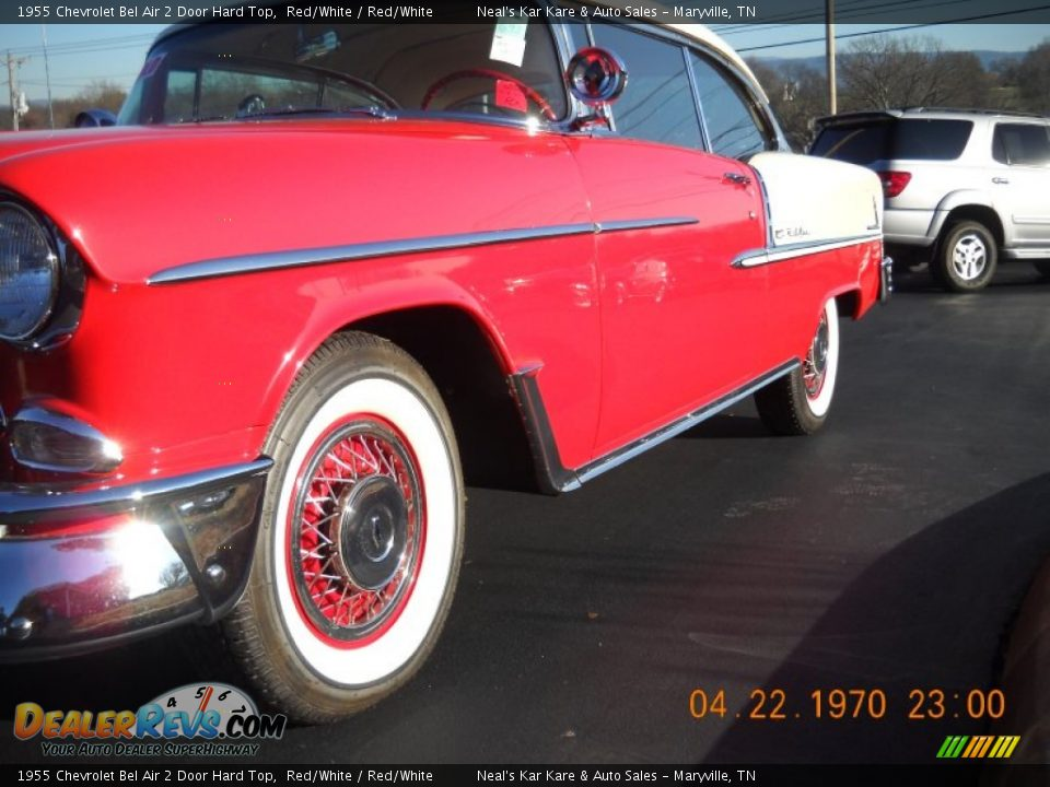 1955 Chevrolet Bel Air 2 Door Hard Top Red/White / Red/White Photo #17