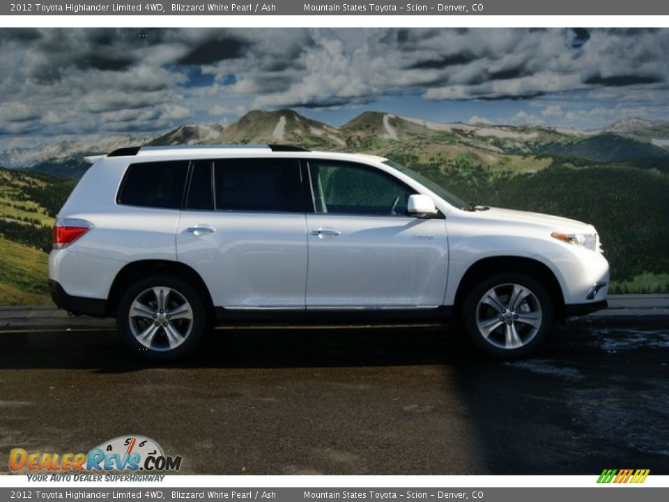 2012 Toyota Highlander Limited 4wd Blizzard White Pearl