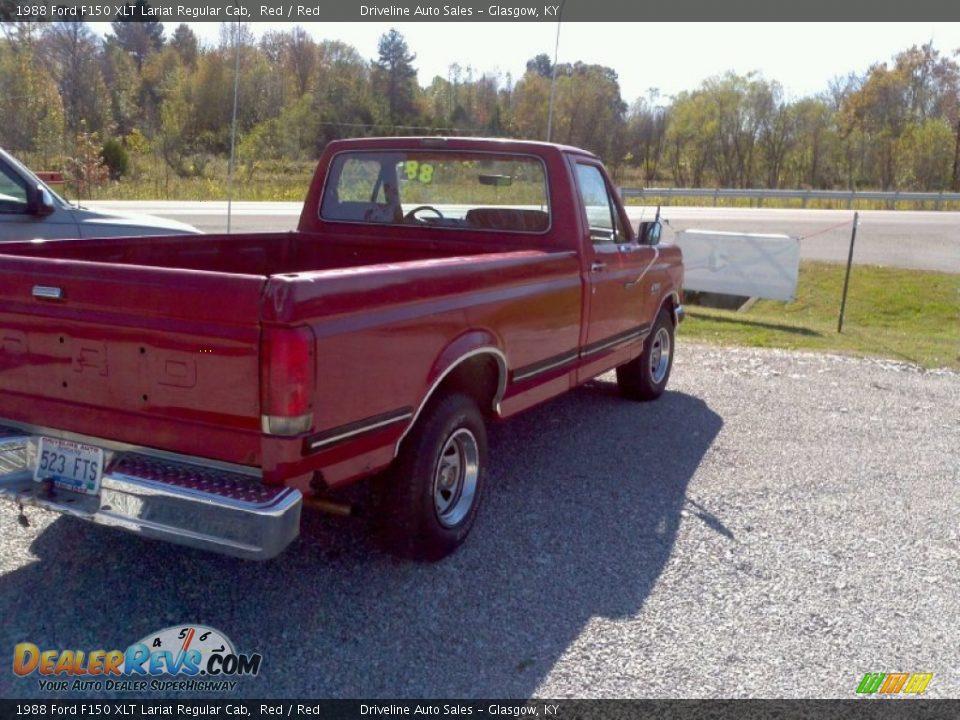 1988 ford f150 xlt lariat regular cab red red photo 8. Black Bedroom Furniture Sets. Home Design Ideas