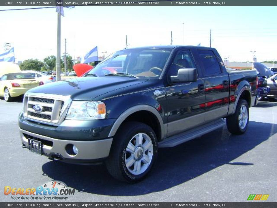 2006 ford f150 king ranch supercrew 4x4 aspen green metallic castano brown leather photo 3. Black Bedroom Furniture Sets. Home Design Ideas