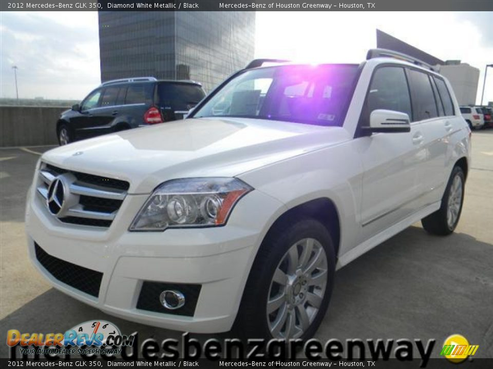 2012 mercedes benz glk 350 diamond white metallic black for Mercedes benz glk 2012