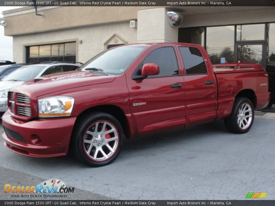 inferno red crystal pearl 2006 dodge ram 1500 srt 10 quad cab photo 3. Black Bedroom Furniture Sets. Home Design Ideas