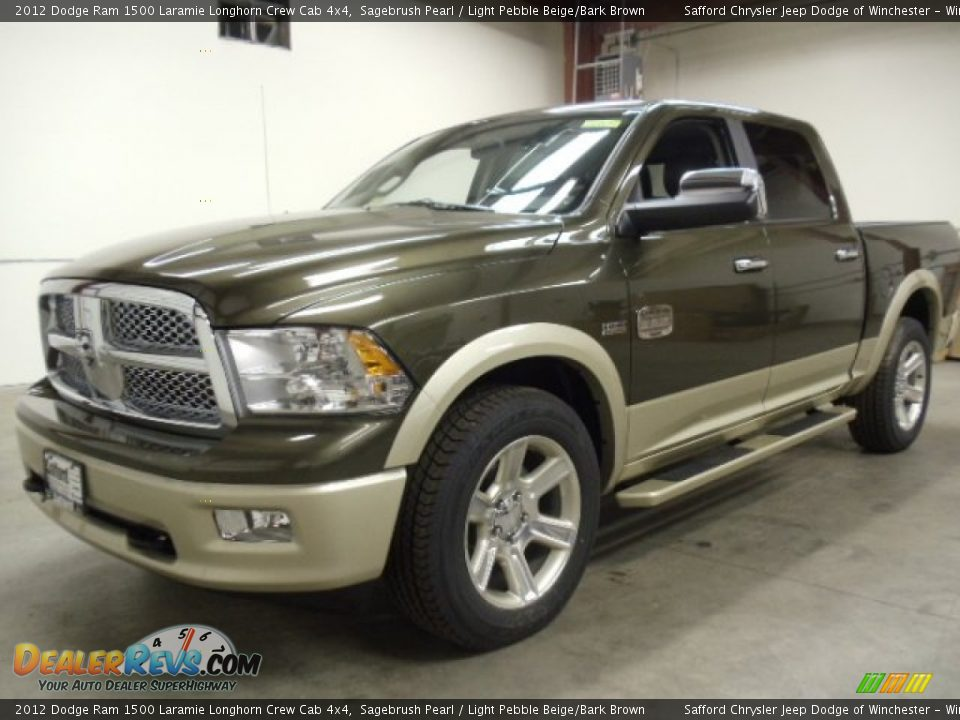 2012 dodge ram 1500 laramie longhorn crew cab 4x4 sagebrush pearl light pebble beige bark. Black Bedroom Furniture Sets. Home Design Ideas