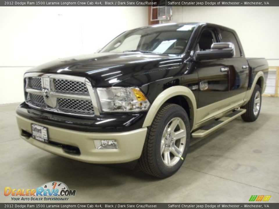 2012 dodge ram 1500 laramie longhorn crew cab 4x4 black dark slate gray russet photo 1. Black Bedroom Furniture Sets. Home Design Ideas