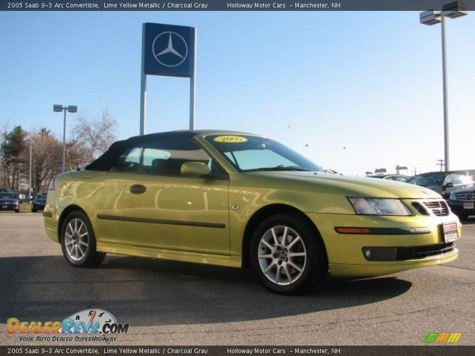 2005 saab 9 3 arc convertible lime yellow metallic. Black Bedroom Furniture Sets. Home Design Ideas