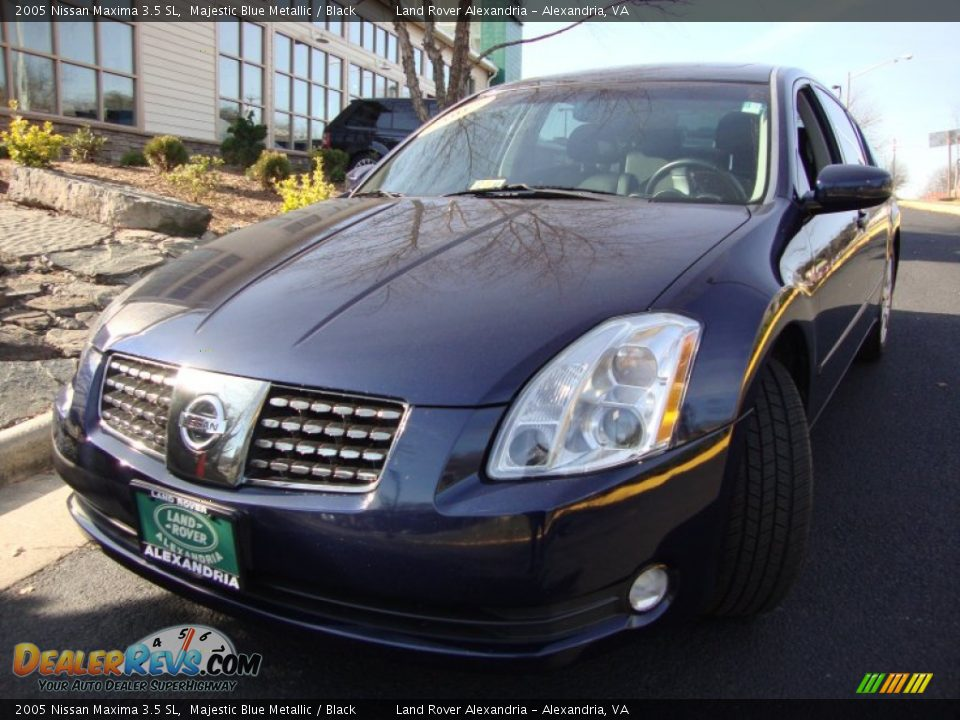 2005 nissan maxima 3 5 sl majestic blue metallic black. Black Bedroom Furniture Sets. Home Design Ideas