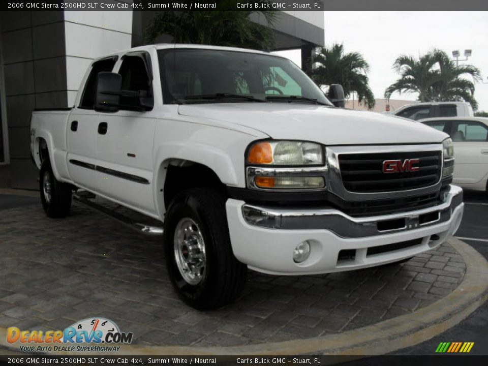 2006 gmc sierra 2500hd slt crew cab 4x4 summit white. Black Bedroom Furniture Sets. Home Design Ideas