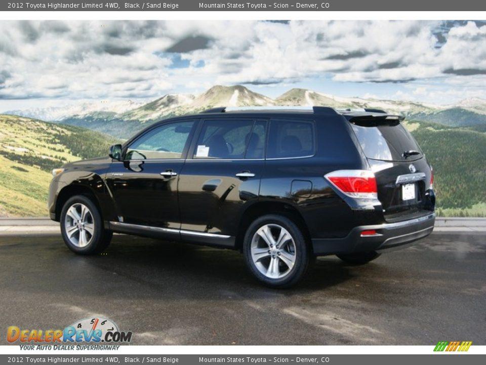 2012 Toyota Highlander Limited 4wd Black Sand Beige