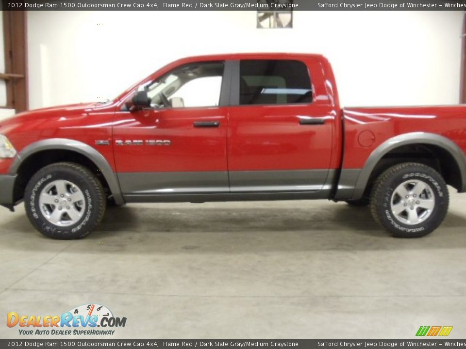 2012 dodge ram 1500 outdoorsman crew cab 4x4 flame red dark slate. Black Bedroom Furniture Sets. Home Design Ideas