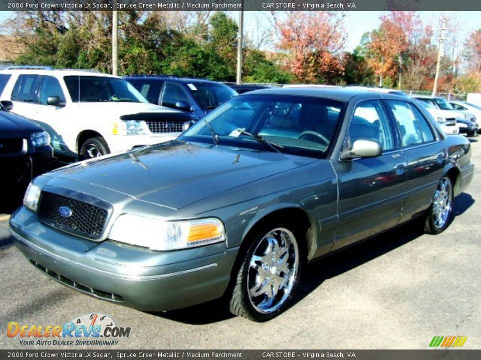 2000 ford crown victoria lx sedan spruce green metallic medium parchment photo 1. Black Bedroom Furniture Sets. Home Design Ideas