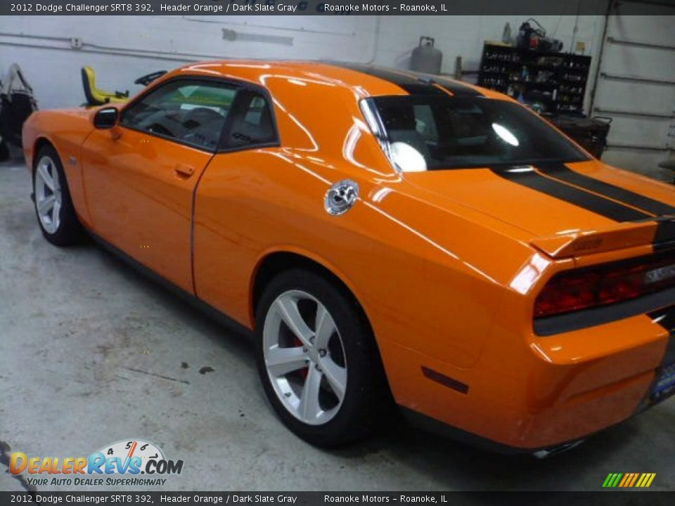 2012 Dodge Challenger Srt8 392 Header Orange Dark Slate