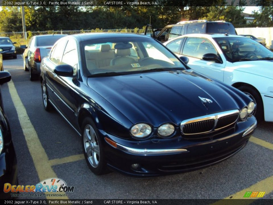 2002 jaguar x type 3 0 pacific blue metallic sand photo 1. Black Bedroom Furniture Sets. Home Design Ideas
