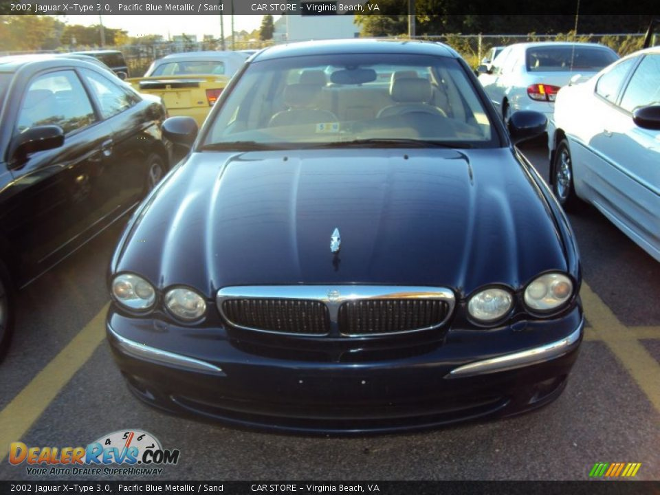 2002 jaguar x type 3 0 pacific blue metallic sand photo 2. Black Bedroom Furniture Sets. Home Design Ideas