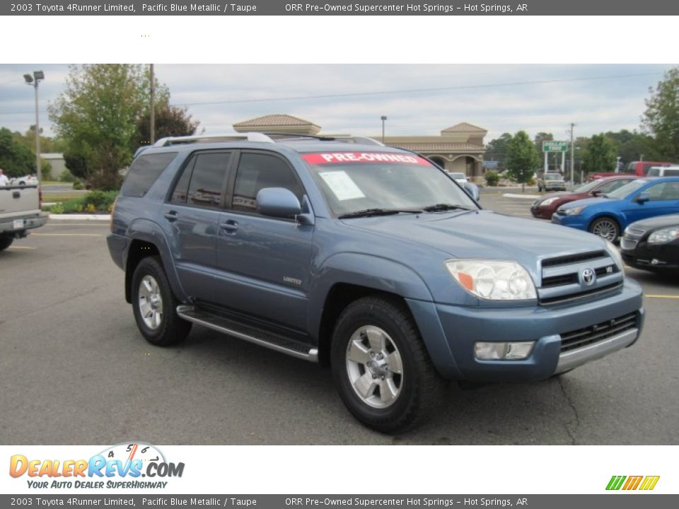 2003 Toyota 4runner Limited Pacific Blue Metallic Taupe