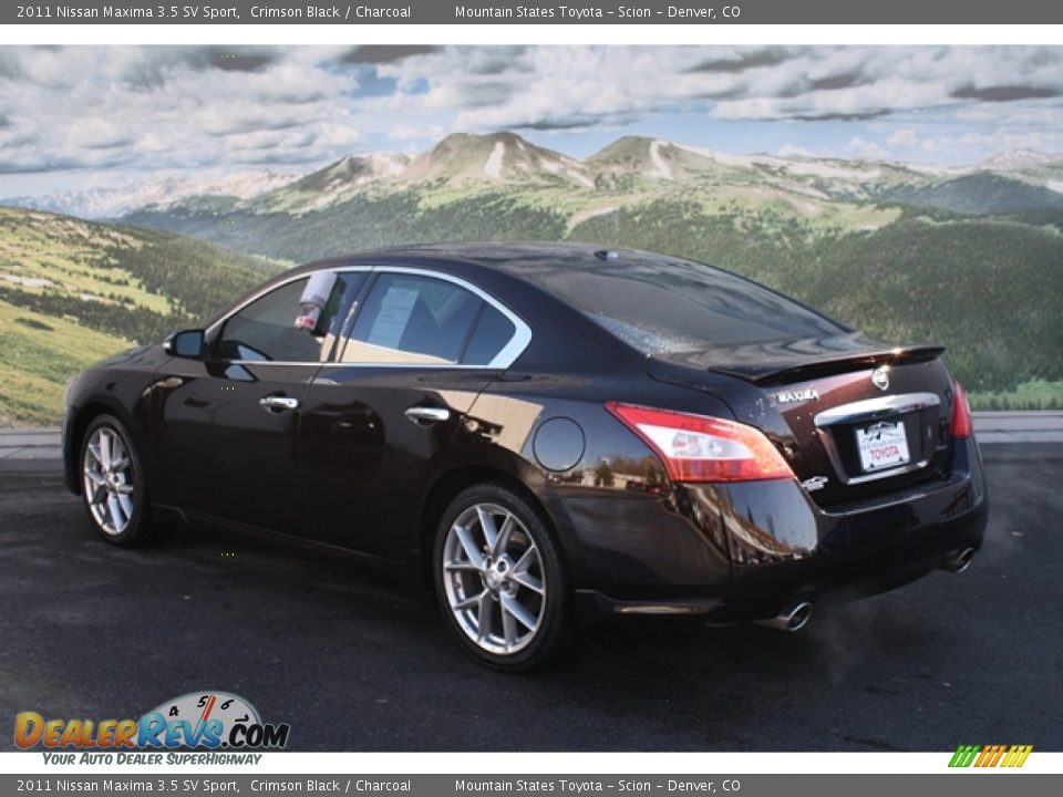 2011 nissan maxima 3 5 sv sport crimson black charcoal photo 2. Black Bedroom Furniture Sets. Home Design Ideas