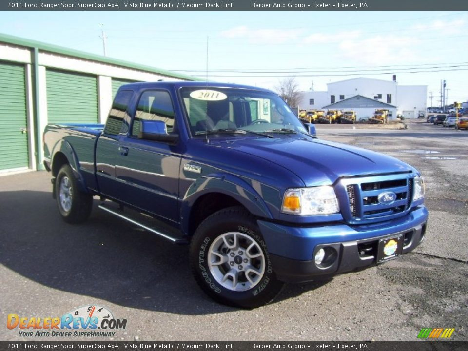 2011 ford ranger sport supercab 4x4 vista blue metallic medium dark flint photo 3. Black Bedroom Furniture Sets. Home Design Ideas