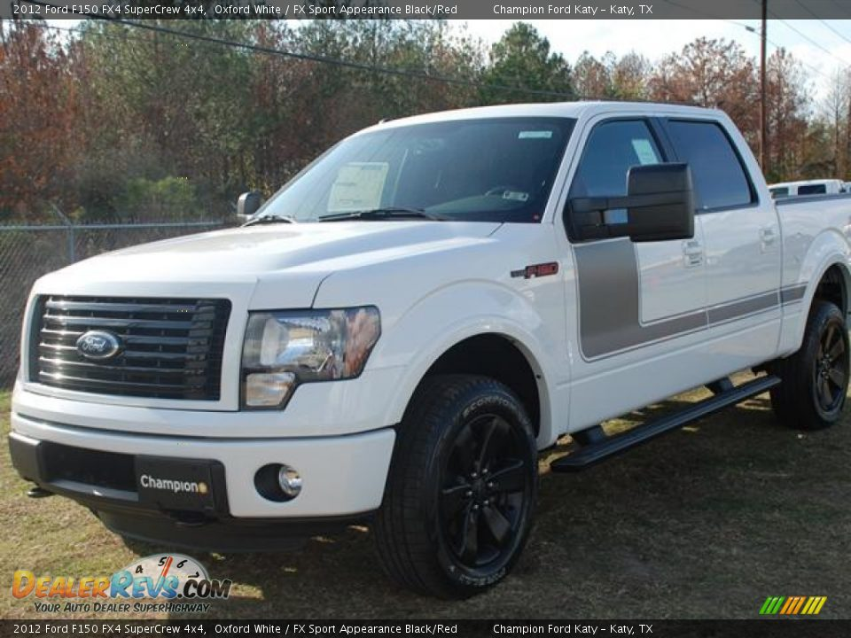 2012 ford f150 fx4 supercrew 4x4 oxford white fx sport appearance black red photo 3. Black Bedroom Furniture Sets. Home Design Ideas