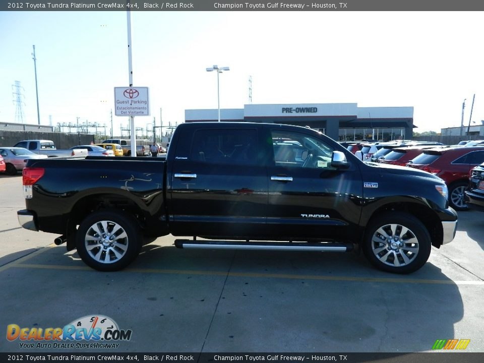 2012 Toyota Tundra Platinum Crewmax 4x4 Black Red Rock