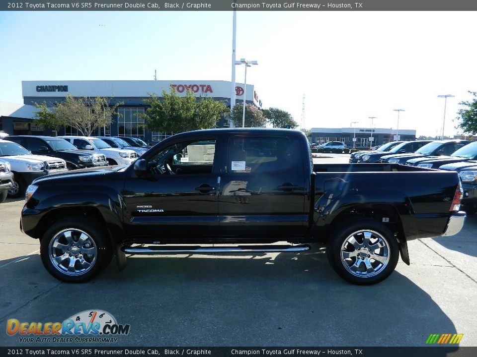 2012 toyota tacoma v6 sr5 prerunner double cab black graphite photo 1. Black Bedroom Furniture Sets. Home Design Ideas