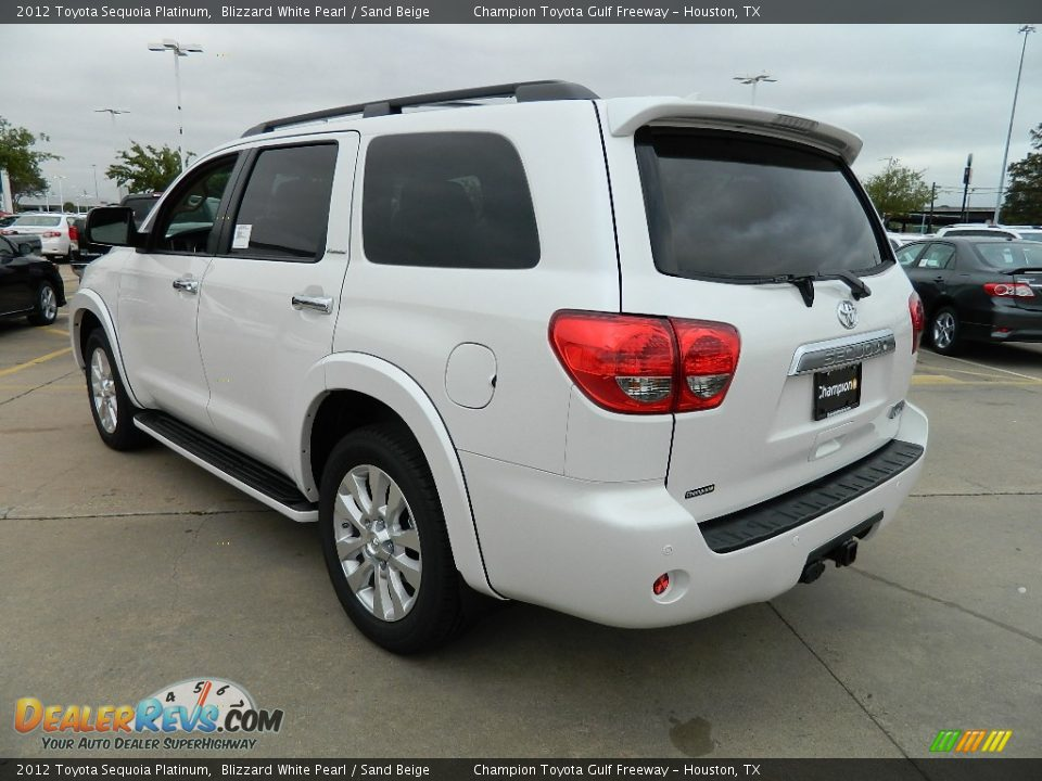 2012 toyota sequoia platinum blizzard white pearl sand beige photo 7. Black Bedroom Furniture Sets. Home Design Ideas
