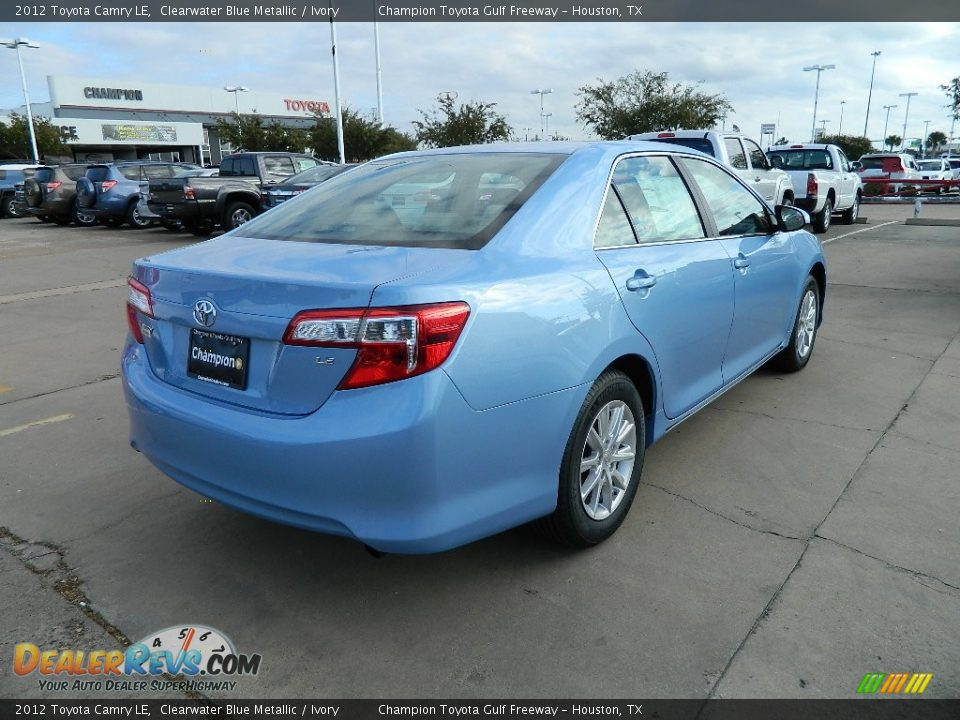clearwater blue metallic 2012 toyota camry le photo 5. Black Bedroom Furniture Sets. Home Design Ideas