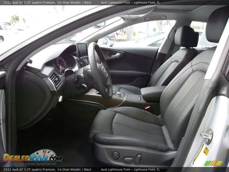 Black Interior - 2012 Audi A7 3.0T quattro Premium Photo ...