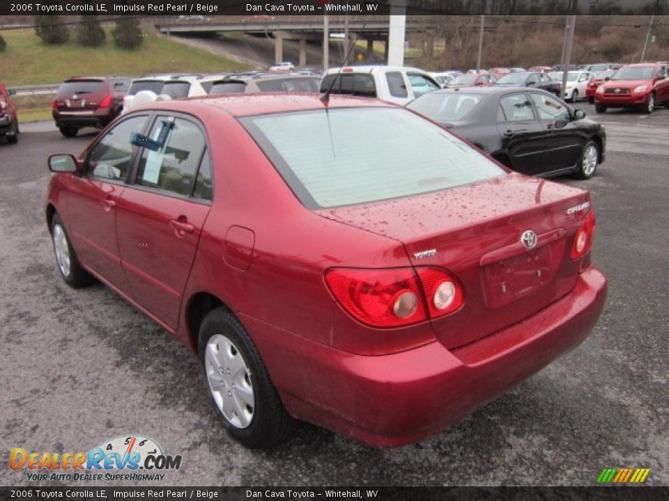 2006 Toyota Corolla Le Impulse Red Pearl Beige Photo 5
