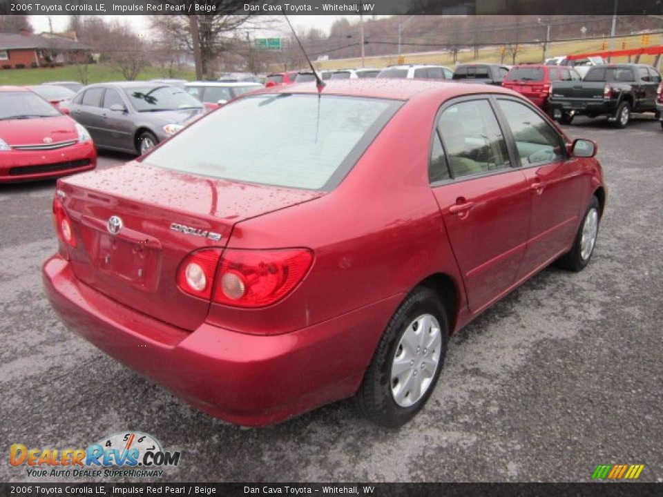 2006 Toyota Corolla Le Impulse Red Pearl Beige Photo 7