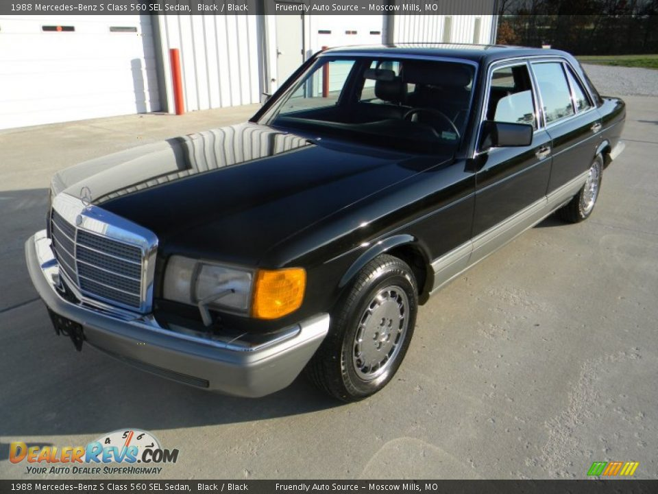 1988 mercedes benz s class 560 sel sedan black black for Mercedes benz 560 sel