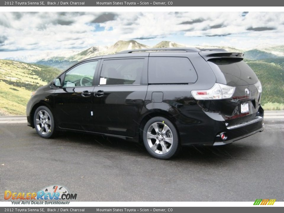 2012 Toyota Sienna Se Black Dark Charcoal Photo 3