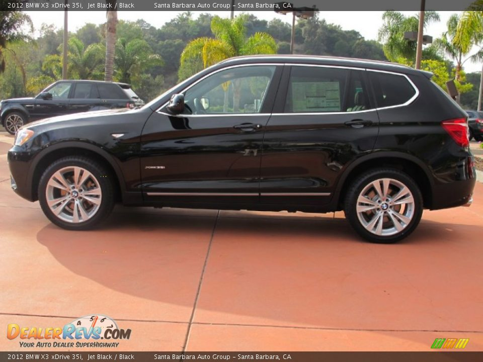 2012 Bmw X3 Xdrive 35i Jet Black Black Photo 2