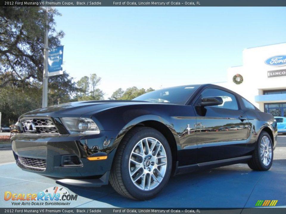 2012 ford mustang v6 premium coupe black saddle photo 1. Black Bedroom Furniture Sets. Home Design Ideas