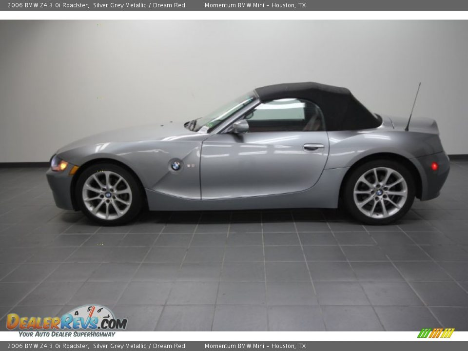 2006 Bmw Z4 3 0i Roadster Silver Grey Metallic Dream Red