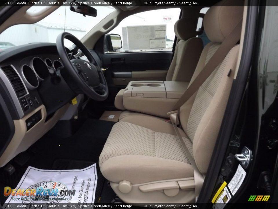 Sand Beige Interior 2012 Toyota Tundra Tss Double Cab