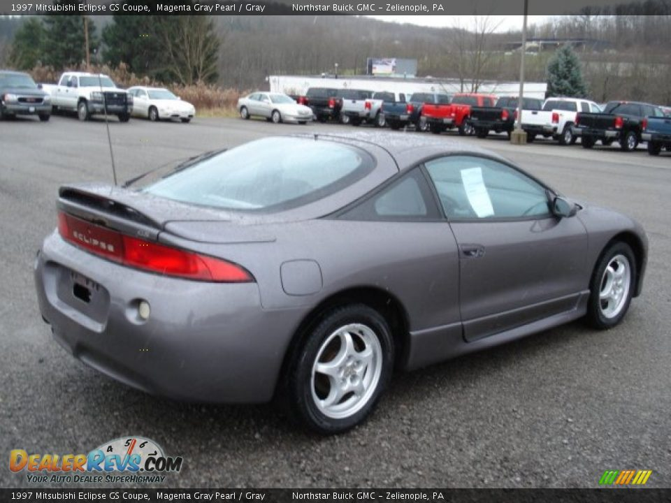 1997 Mitsubishi Eclipse GS Coupe Magenta Gray Pearl / Gray Photo #4 | DealerRevs.com