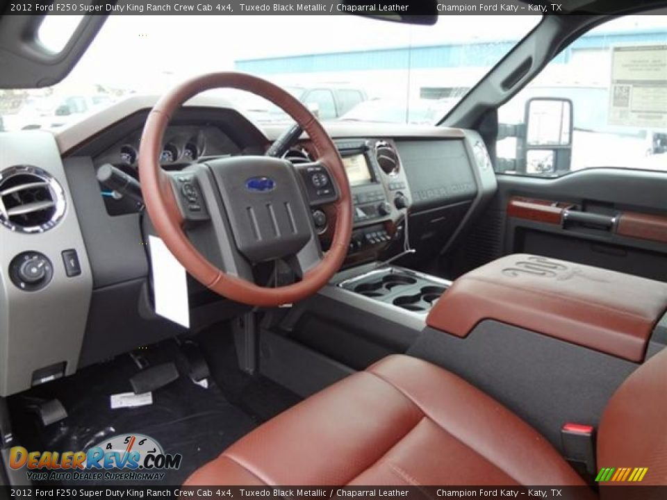 Chaparral Leather Interior 2012 Ford F250 Super Duty King Ranch Crew Cab 4x4 Photo 11