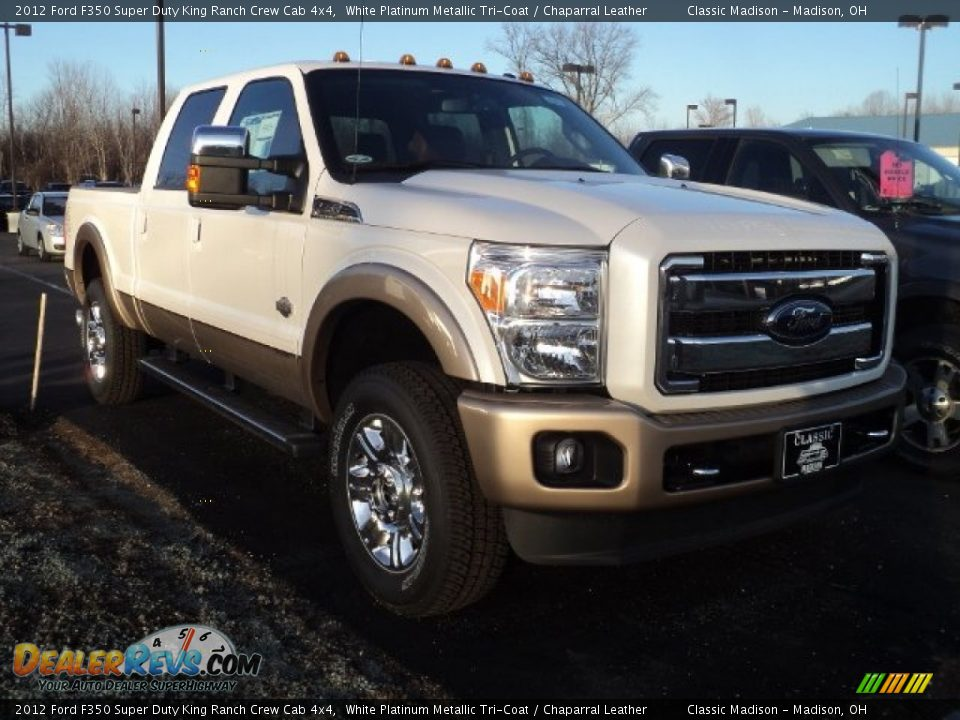 2012 ford f350 super duty king ranch crew cab 4x4 white platinum metallic tri coat chaparral. Black Bedroom Furniture Sets. Home Design Ideas