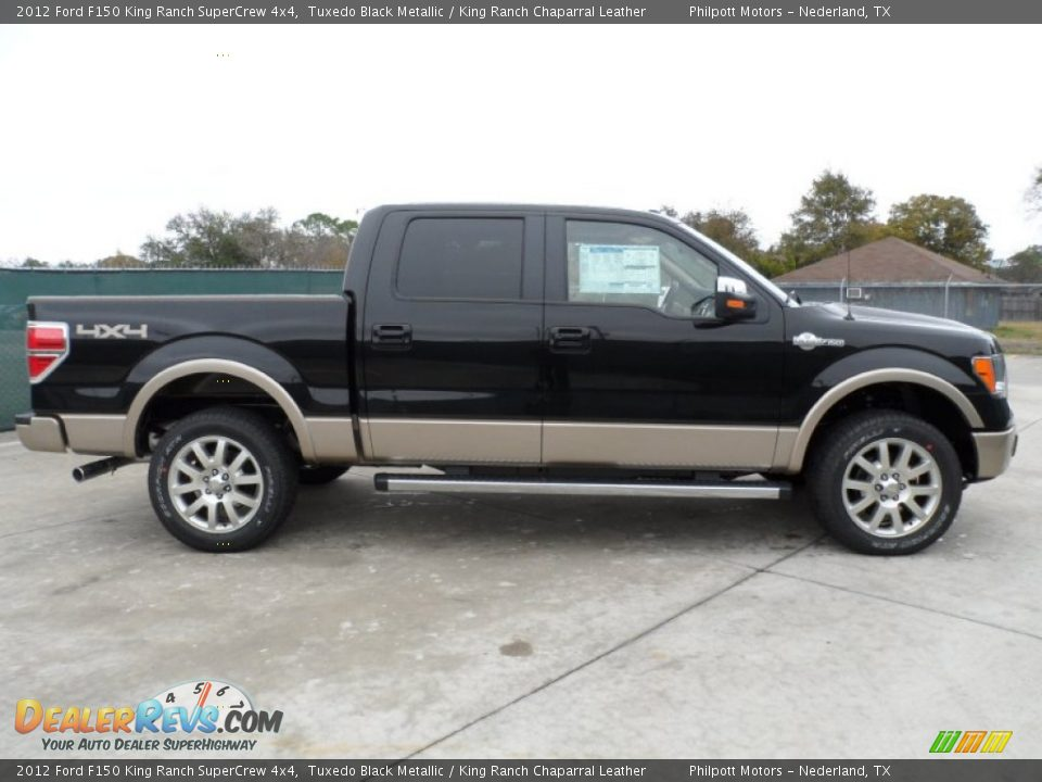 tuxedo black metallic 2012 ford f150 king ranch supercrew 4x4 photo 2. Black Bedroom Furniture Sets. Home Design Ideas