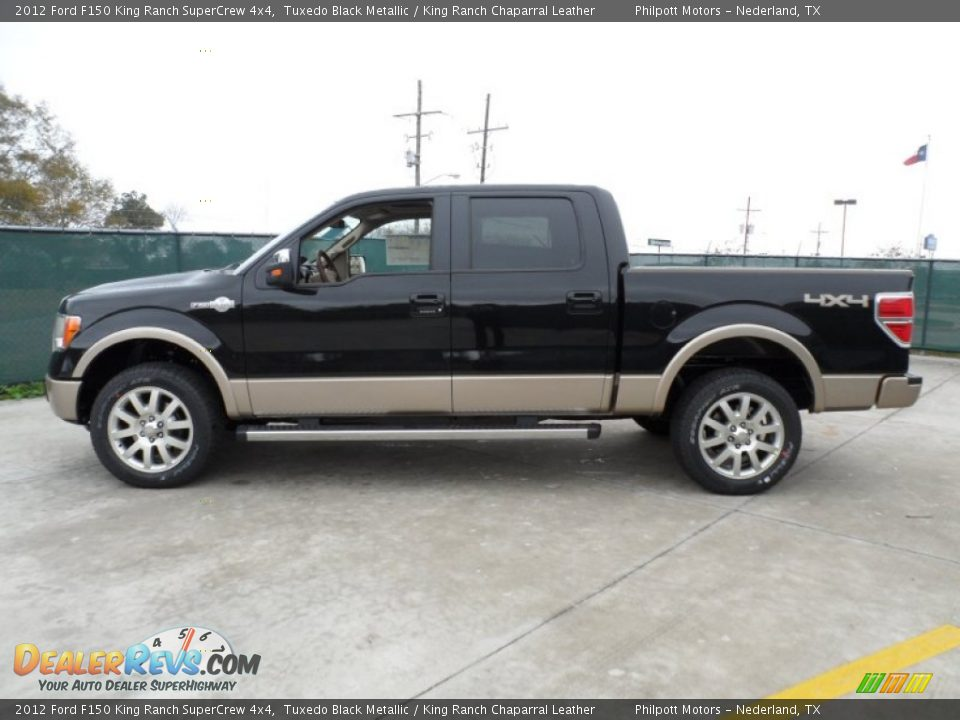 tuxedo black metallic 2012 ford f150 king ranch supercrew 4x4 photo 6. Black Bedroom Furniture Sets. Home Design Ideas