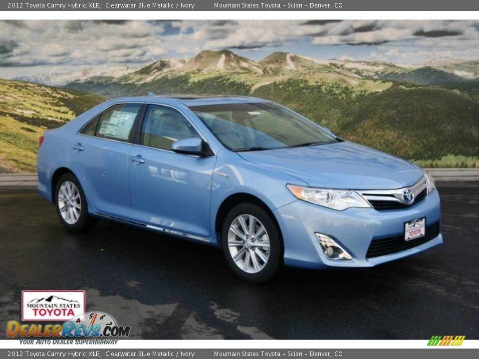2012 toyota camry hybrid xle clearwater blue metallic. Black Bedroom Furniture Sets. Home Design Ideas