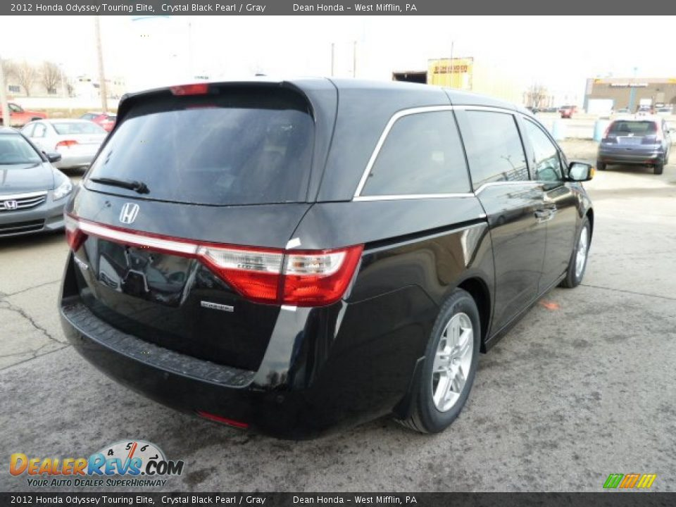 2012 honda odyssey touring elite crystal black pearl gray photo 5. Black Bedroom Furniture Sets. Home Design Ideas